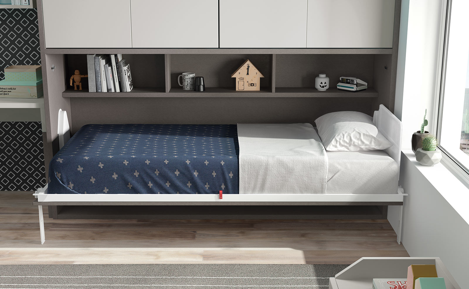 Space Side Folding Bed The London Wallbed Company