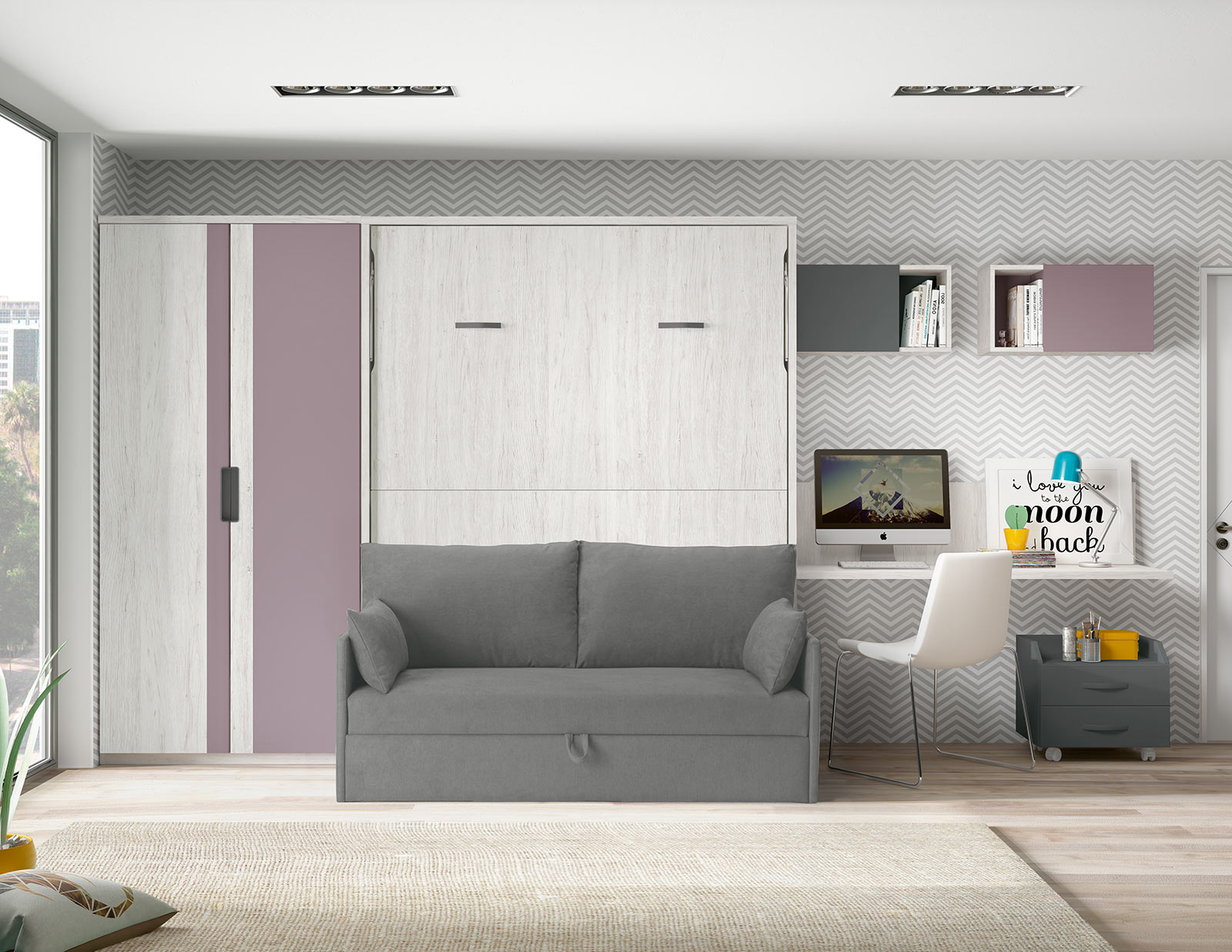 Brilliant Space Sofa Wallbed The London Wallbed Company Machost Co Dining Chair Design Ideas Machostcouk