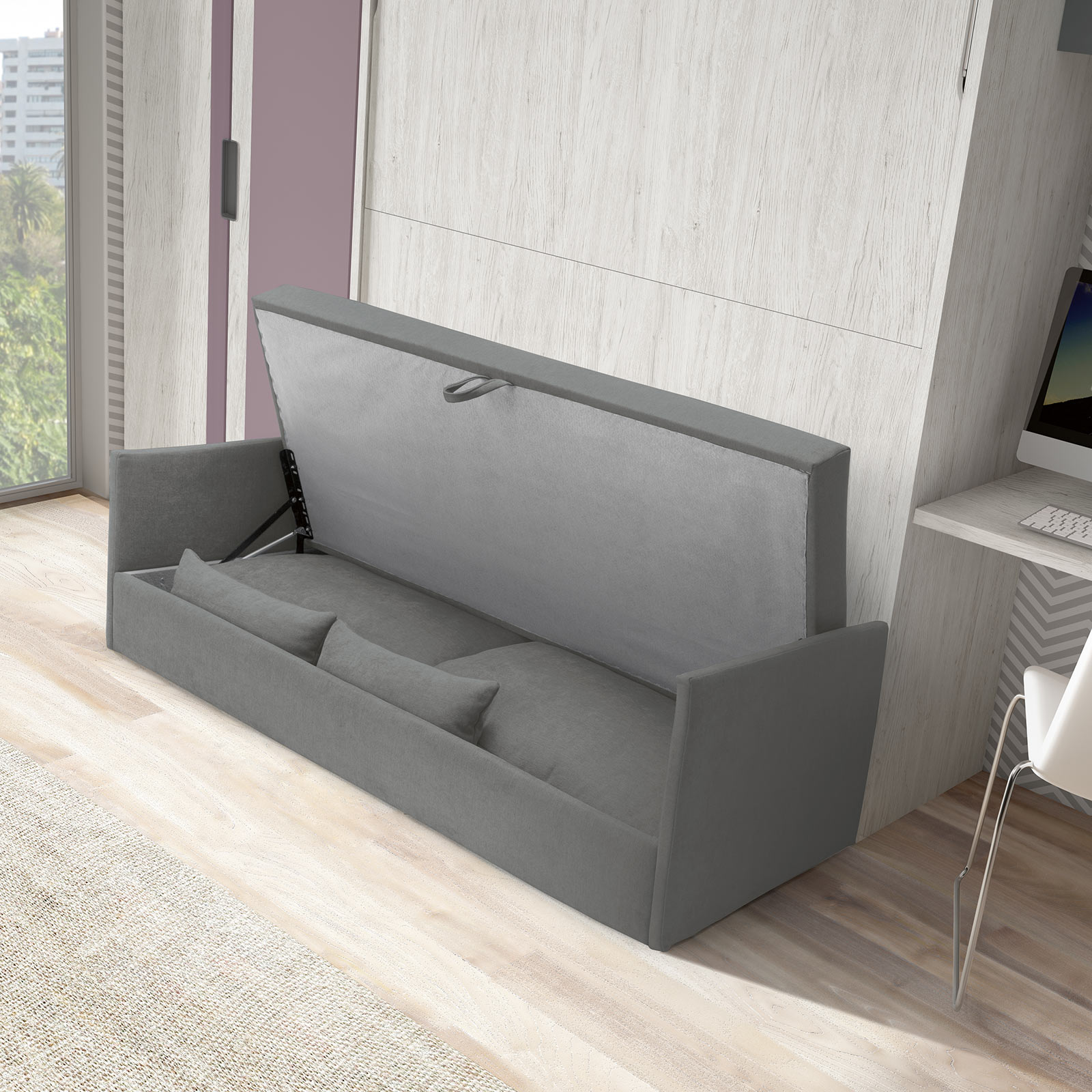 Amazing Space Sofa Wallbed The London Wallbed Company Machost Co Dining Chair Design Ideas Machostcouk
